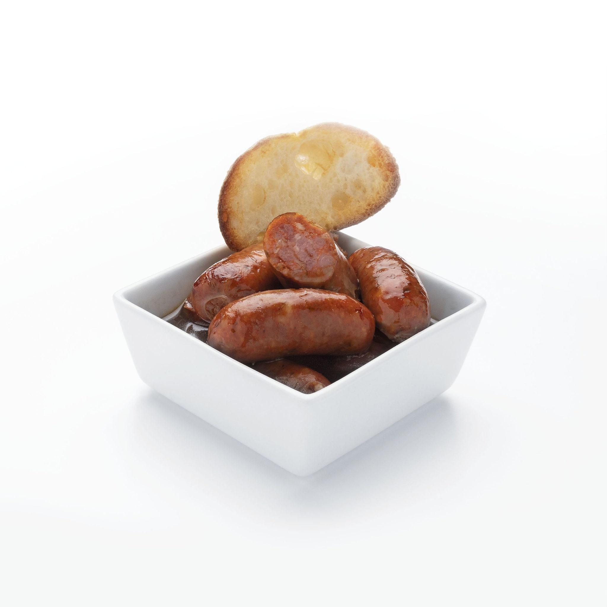 Choricitos ibéricos con salsa del chef